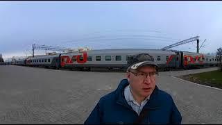 тест видеокамеры X-RTY XTC360. вокзал Великий Новгород 360