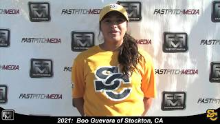 2021 Boo Guevara 3.5 GPA, Athletic Second Base and Outfield Softball Skills Video - Ca Suncats