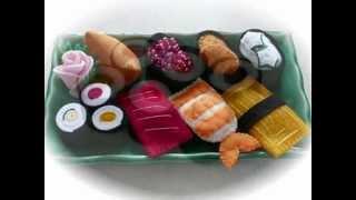 Felt Crafts - Felt Food Sushi Platter (from The Felt Cuisine Series Of Step By Step Patterns)