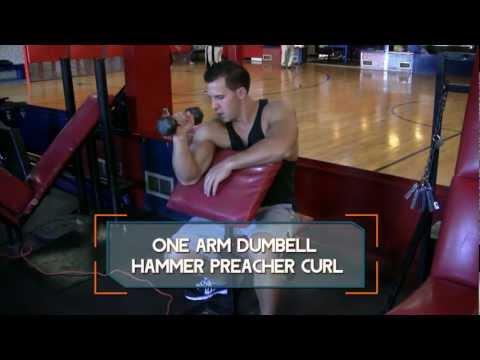 One-Arm Dumbbell Hammer Preacher Curl