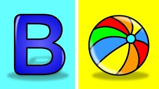 B for ball  || ABCD Alphabet Songs || ABC Songs for Children || Kids Nursery Rhymes || how to draw B