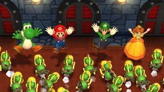 Mario Party 9 - Yoshi vs Mario vs Luigi vs Daisy  Step It Up Master Difficulty  Cartoons Mee