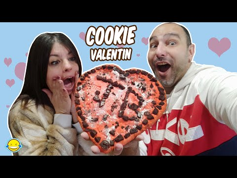 MEGA COOKIE GIGANTE de Chocolate para San Valentin | Giant Chocolate Cookie Valentin's Day HD Mp4 3GP Video and MP3