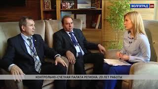 И. Дьяченко-председатель региональной КСП, В. Хрипун-председатель КСП Ростовской области