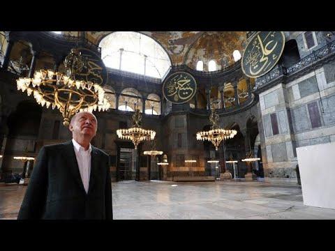 Προκλητική επίσκεψη Ερντογάν στην Αγία Σοφία
