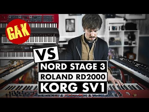 SOUND COMPARISON | Nord Stage 3 VS Korg SV1 VS Roland RD2000