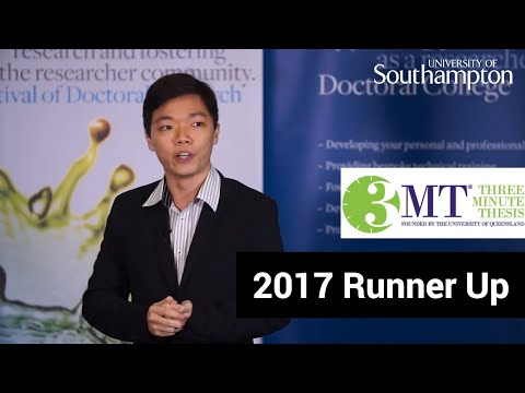 Runner up, Three Minute Thesis '17 | University of Southampton
