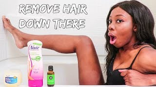 How To Remove Pubic Hair Without Shaving!! No Ingrown Hairs Or Bumps!