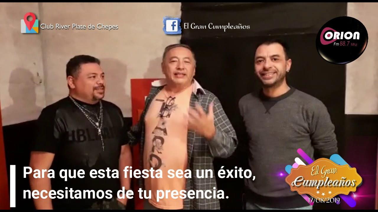 """Invitación de """"Gualicho"""" para """"El Gran Cumpleaños""""."""