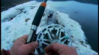 Рыбалка на ангаре с берега осенью