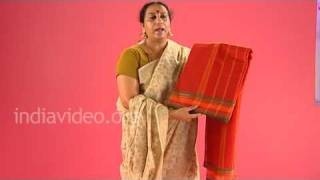Cotton handloom saree of South India