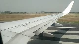 preview picture of video 'Qatar airways take off from sri guru ram dass ji international airport amritsar'