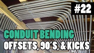 "Episode 22 - How To Bend Conduit - 1/2"" 3/4"" and 1"" EMT - BENDING 90s, OFFSETS, BOX OFFSETS, & KICKS"