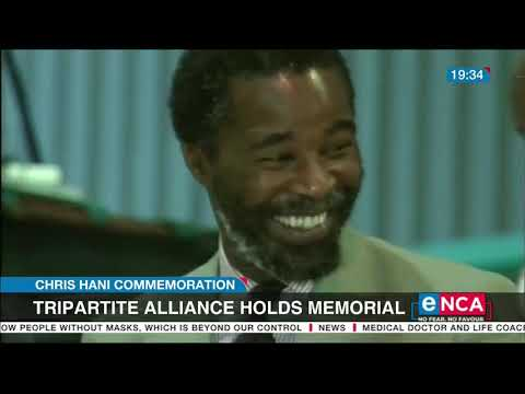 Tripartite alliance holds memorial for Chris Hani
