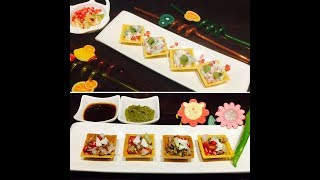 Canapes (2 Ways) | Healthy Recipe | Sprouts & Fruits Salad Recipe