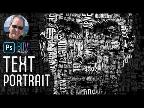 photoshop photo manipulation create a poweferul text portrait tutorial by bluelightningtv