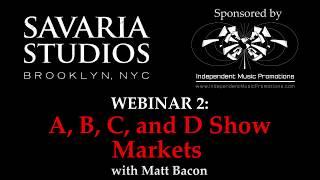 Savaria Studios Webinar - A, B, C and D Show Market
