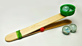 How To Make A Simple Catapult || Easy Popsicle Stick Catapult || Simple Toy Weapon