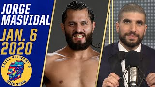 """Jorge Masvidal, winner of 4 Helwani Nose Awards (Male Fighter of the Year, Knockout of the Year, Comeback of the Year & Story of the Year) joins Ariel Helwani's MMA Show to say 2020 will be even better than 2019. """"Gamebred"""" says he'd rather fight Conor McGregor instead of Kamaru Usman, because the welterweight title will always be there. He also expresses desire in an eventual rematch vs. Nate Diaz and responds to getting called out by Nick Diaz. (12:58) Masvidal says he thinks he'll be at UFC 246 and gives his thoughts on McGregor vs. Donald Cerrone.  #HelwaniShow #ESPNMMA #Masvidal ✔ For more UFC, sign up for ESPN+ https://plus.espn.com/ufc ✔ Get the ESPN App: http://www.espn.com/espn/apps/espn ✔ Subscribe to ESPN on YouTube: http://es.pn/SUBSCRIBEtoYOUTUBE ✔ Subscribe to ESPN FC on YouTube: http://bit.ly/SUBSCRIBEtoESPNFC ✔ Subscribe to NBA on ESPN on YouTube: http://bit.ly/SUBSCRIBEtoNBAonESPN ✔ Watch ESPN on YouTube TV: http://es.pn/YouTubeTV  ESPN on Social Media: ► Follow on Twitter: http://www.twitter.com/espn ► Like on Facebook: http://www.facebook.com/espn ► Follow on Instagram: http://www.instagram.com/espn  Visit ESPN on YouTube to get up-to-the-minute sports news coverage, scores, highlights and commentary for NFL, NHL, MLB, NBA, College Football, NCAA Basketball, soccer and more.   More on ESPN.com: http://www.espn.com"""