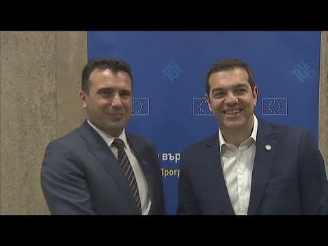 Συνάντηση Αλέξη Τσίπρα με τον ομόλογό του της ΠΓΔΜ, Ζόραν Ζάεφ