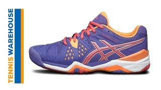 Asics Gel Resolution 6 Clay GS Junior Tennis Shoes video