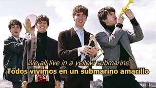 Yellow Submarine - The Beatles (LYRICS/LETRA) [Original]