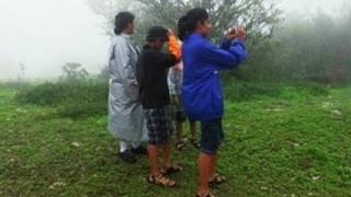 Tourists atop Kundadri Hills