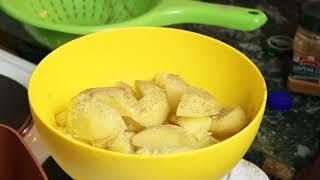 Очень Вкусная Жареная Картошка   по Деревенски с Салом