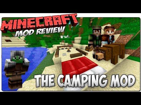 CAMPING MOD MINECRAFT 1.7.10 MOD REVIEW ESPAÑOL | Vete de camping, ¡Pero cuidado con los osos!