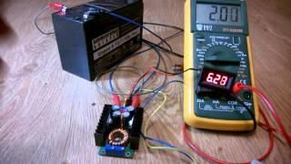 Понижающий преобразователь с регулировкой тока и напряжения  DC-DC  300 Вт 4016 MAX 9А - видео 1