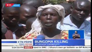 Bungoma Killings: Residents protest after police allegedly clobbered man to death