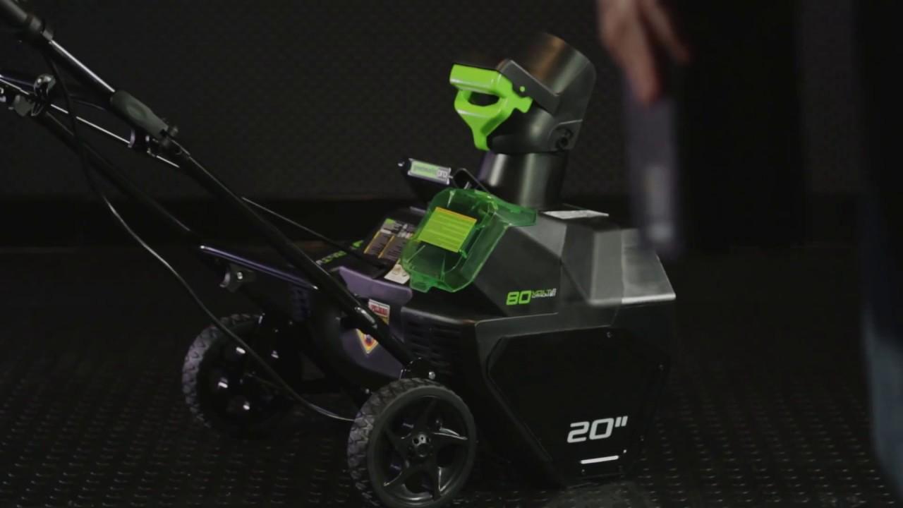 80V Cordless Snow Blower - Installing Battery