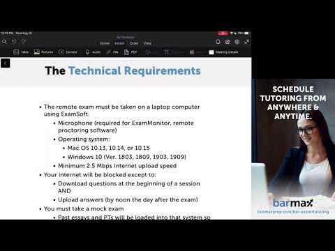 Remote CA Bar Exam Webinar - BarMax Bar Exam, MBE & MPRE ...