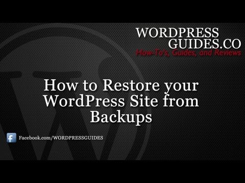 How to Restore Your WordPress Site from Backup
