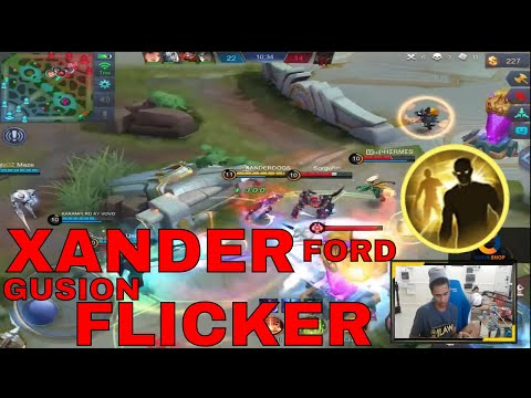 GUSION FLICKER NI XANDER FORD !! - MOBILE LEGENDS - 1000 DIAMONDS GIVEAWAY - GAMEPLAY - RANK