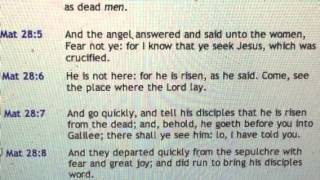 """Matthew 28 """"Magdalen Sees An Angel Of The Lord"""""""