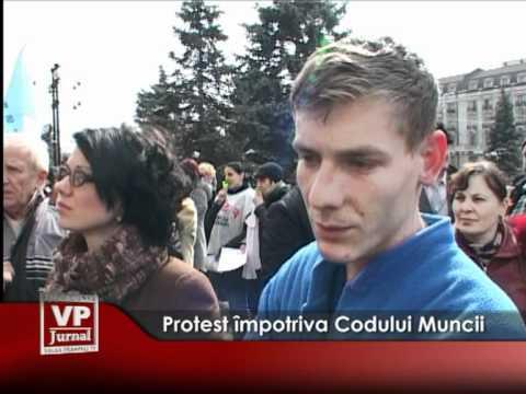 Protest împotriva Codului Muncii