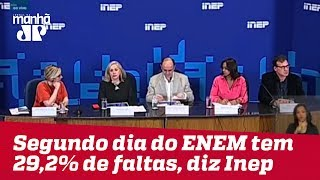 Segundo dia do ENEM tem 29,2% de faltas, aponta Inep