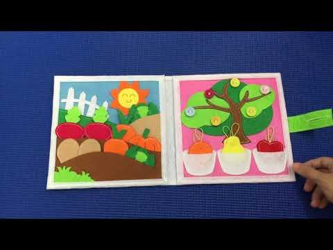 Sách Vải Thực Vật   Sách Vải Giáo Dục Khasa   Vừa Học Vừa Chơi   Sách Tương Tác Khasa