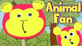 How To Make A Cute Animal Fan |  Crafts for Kids