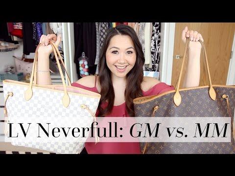 Louis Vuitton Neverfull GM vs. MM Comparison | Chase Amie