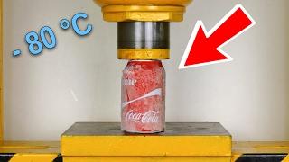 Experimento - Coca Cola Congelada En NITROGENO LIQUIDO   VS   LA APLASTADORA - El Show