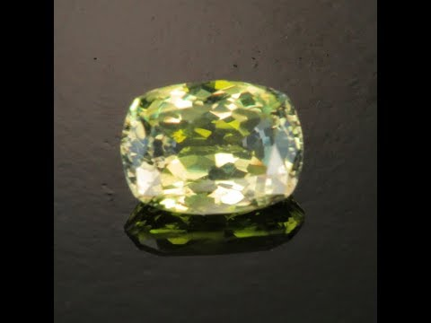 Rare Green Tanzanite 2.40 Carat Antique Cushion