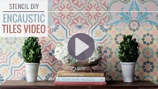 How to Stencil Wall Tiles for a DIY Encaustic Cement Tile Designs
