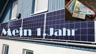 Balkonkraftwerk Ertrag 1.Jahr/Amortisationszeit an der Ostwand