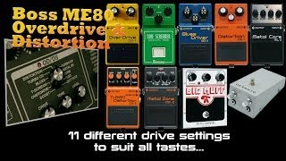 Boss ME 80 Overdrive And Distortion Demo's PMTVUK