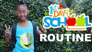 FIRST DAY OF SCHOOL MORNING ROUTINE | KJ TAKEOVER