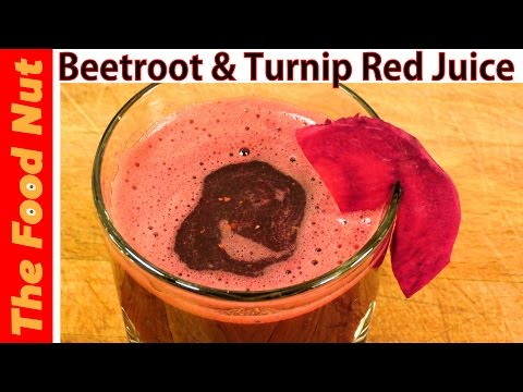 Video Beetroot Juice Recipe With Beets, Celery & Turnip - Healthy Detox & Cleanse Red Juice | The Food Nut