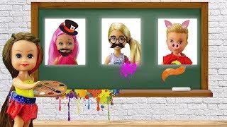 Барби про Школу   РАЗВИВАЮЩАЯ ДОСКА Мультфильм. Школьные истории с куклами для девочек
