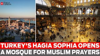 Turkey Hagia Sophia opens as a mosque for Muslim prayers  IMAGES, GIF, ANIMATED GIF, WALLPAPER, STICKER FOR WHATSAPP & FACEBOOK
